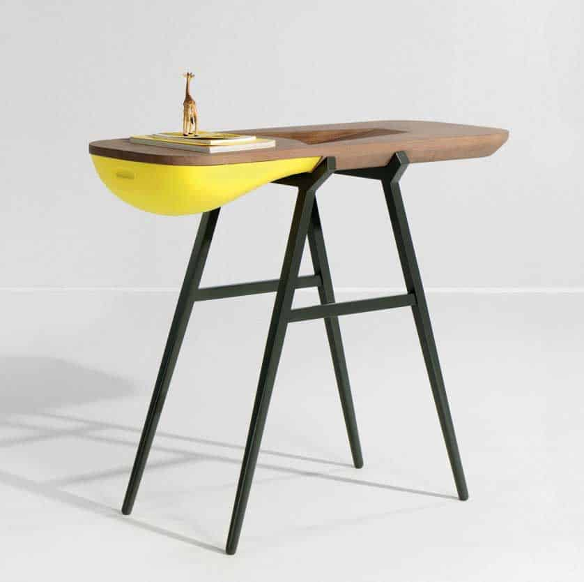 design table with storage by French designer Gregoire da Lafforest