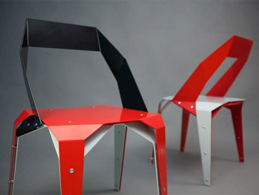 Origami chair by Brouhaus
