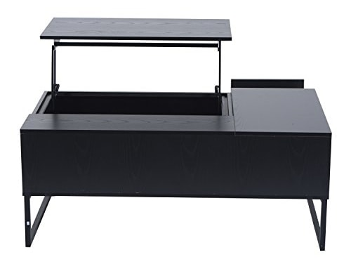 HomCom-43-Modern-Lift-Top-Coffee-Table-Black-0-2