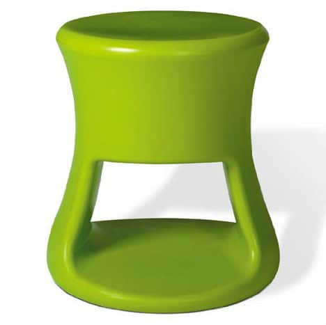 stool as a side table using the bottom as storage space or as additional seating.