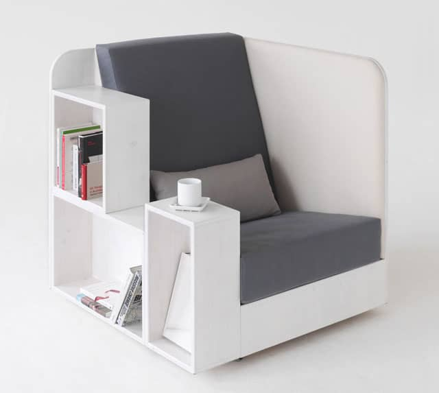 Chair And  Bookstorage