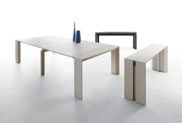 Merveilleux The Minuetto Table Transitions From A Side Table To A Ten Seater Dining  Table. Visit Milano Smart Living.