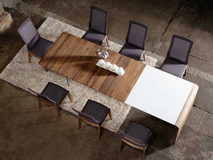 extended dining table