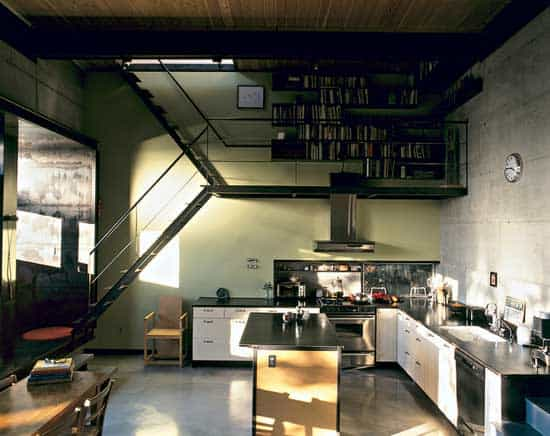 thin-staircase-combined-with-cooking-hood-and-book-storage