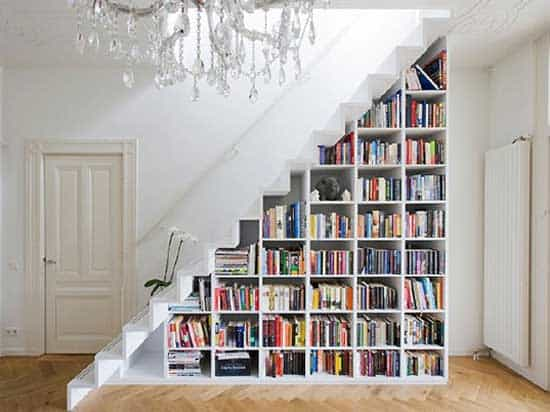 white-staircase-with-books