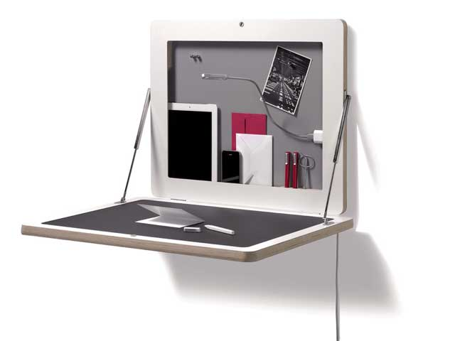 handheld storage and ultra thin wall desk
