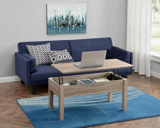 Attrayant The Lift Top Coffee Table That Makes A Convenient Couch Desk