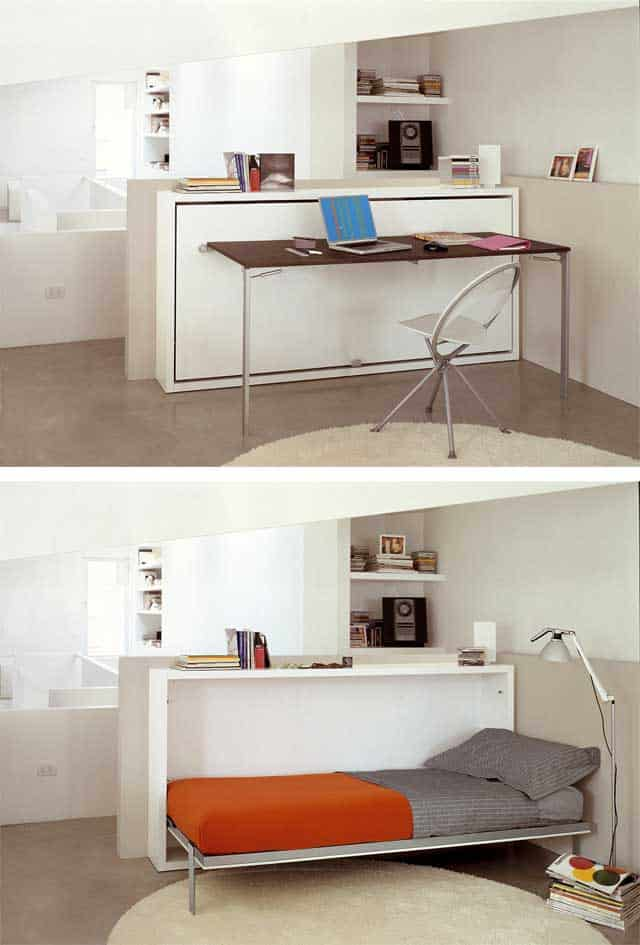 Easily Hide Or Reveal Your Bed Or Desk