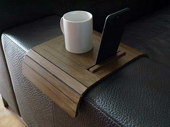 The Couch Armrest Table And Tablet Stand