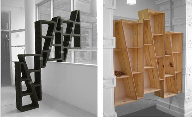 Make Shift Modular Shelving System