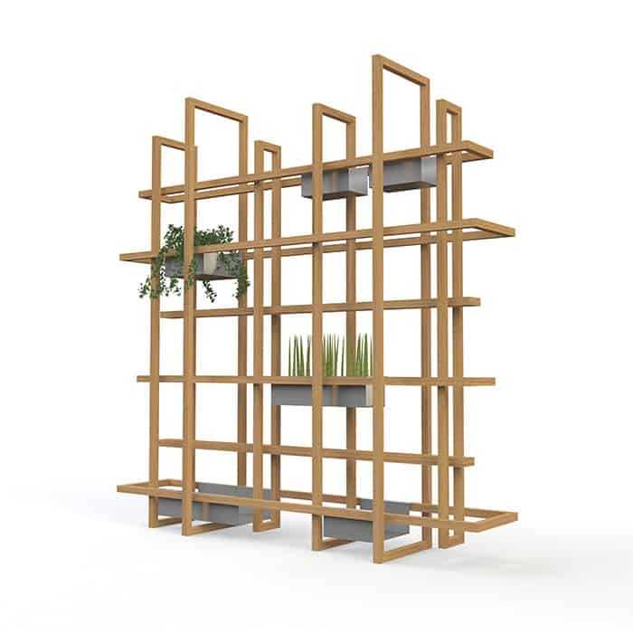 Frames-2.0 with metal containers