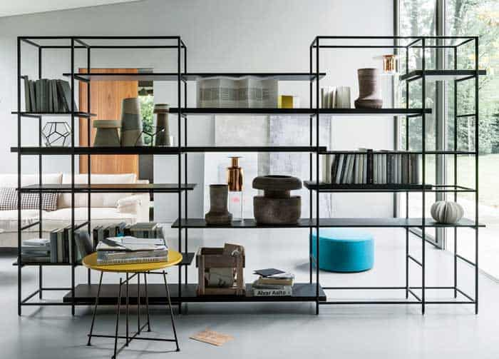 These modular, elegant shelving options boast a sleek finish while getting  rid of the bulk of regular, present-day shelving for homes. - 33 Freestanding Shelving Systems That Double As Room Dividers €� Vurni