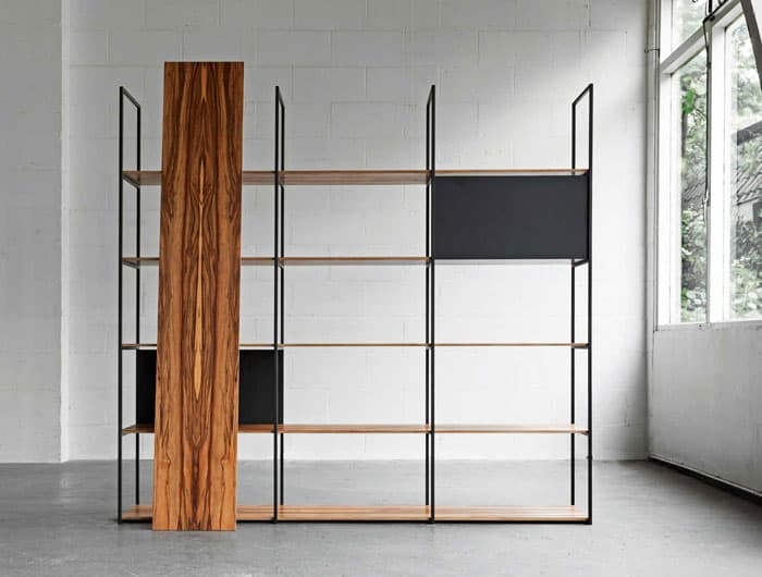 34 freestanding shelving systems that double as room for Room divider storage