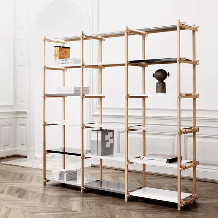 Woody shelving - 33 Freestanding Shelving Systems That Double As Room Dividers €� Vurni