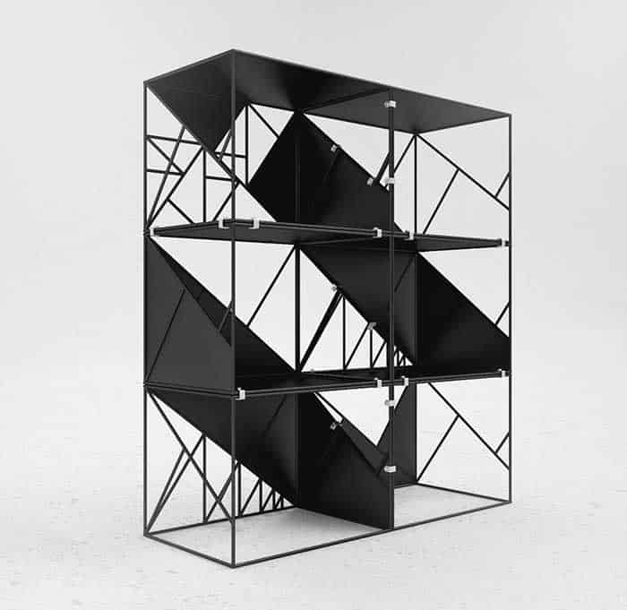 As strong and sturdy as the pyramids of ancient egypt the z modular system is built to last using triangle and pyramid shapes this shelving system can