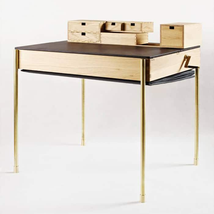 The Piece Inspired By Appearance Of An Accordion Looks At First Glance To Be A Regular If Old Fashioned Office Desk With Basic Wood