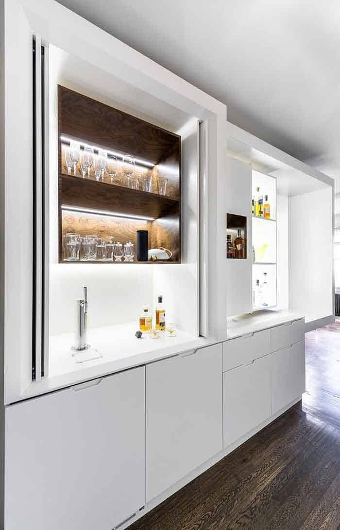 Convertible Home Bar In Tiny Apartment