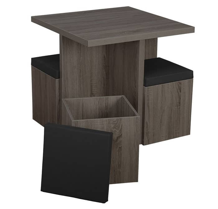 Ordinaire The Simple, Space Saving 5 Piece Baxter Dining Set Is Perfect For A House  Needing To Conserve Space Or A Family Simply Looking To Add A Little Bit Of  Modern ...