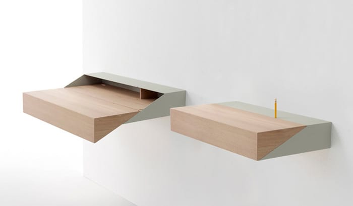 the deskbox by arco by yael mer and shay alkalay makes spacesaving a breeze with this slim wallmounted desk