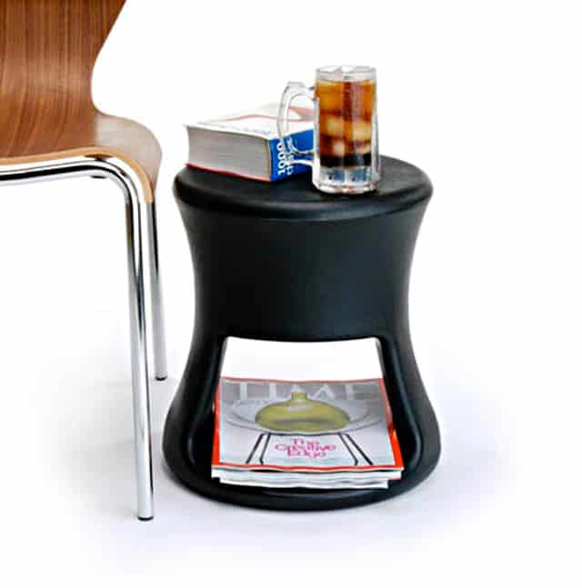 the offi tiki stool is simplicity at its finest use it as a stool side table or fill the base with sand or water to anchor it down when using it for