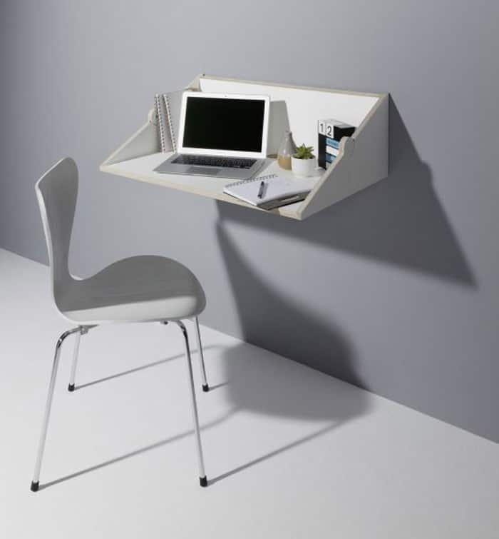 If Regular Wall Mounted Desks Still Aren T Space Saving Enough For You Two Fold Is What Need The Desk Minimalist As It