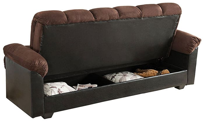 A Cozy Futon Can Be Just As Refreshing And Comfortable As A Daybed, But  This One Has A Secret Tucked Under Its Cushions. Milton Greens Stars Storage  Futon ...