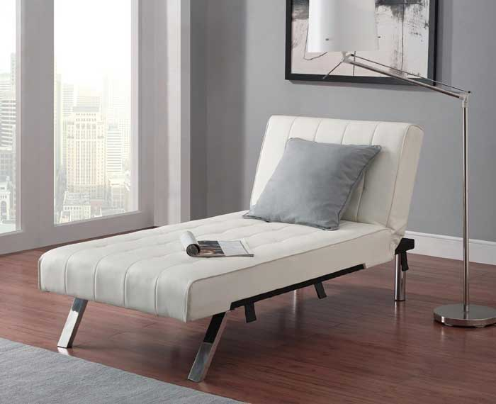 say goodbye to stuck on stains on your chair bed  the emily chaise lounger is easy to clean and  es with a luxurious design for cheap  15 best sleeper chairs for small spaces  u2013 vurni  rh   vurni