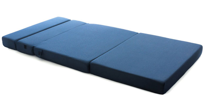 the milliard trifold sofa bed fits perfectly into any living space big or small college students who need some extra cushion or visitors - Tri Fold Mattress