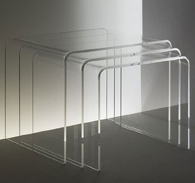acrylic nesting side tables
