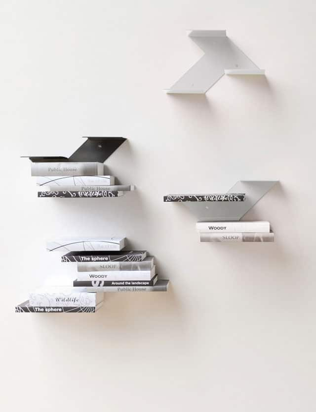 Fin Painted Steel Shelf, Reminiscent Of A Fin Of A Dolphin, Is A Minimalist Shelf  Design That Seems To Float On The Wall. Fin Painted Steel Modular Shelves  ...