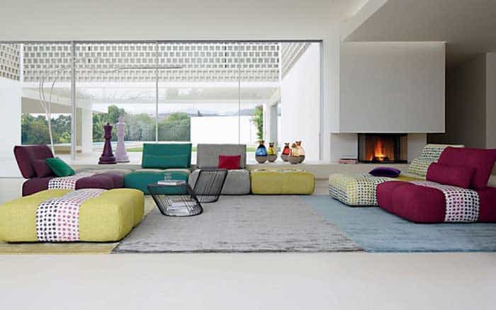 13 modern modular seating systems vurni for Chaise longue roche bobois