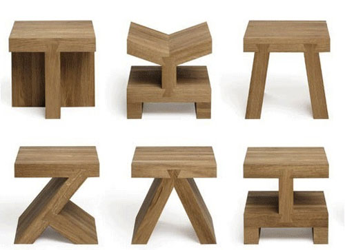 Small Square Side Table Set