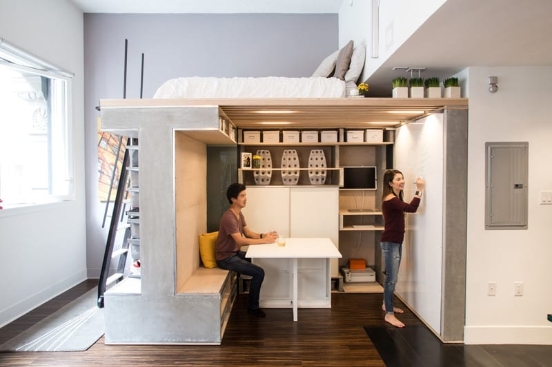 Space-saving Loft San F
