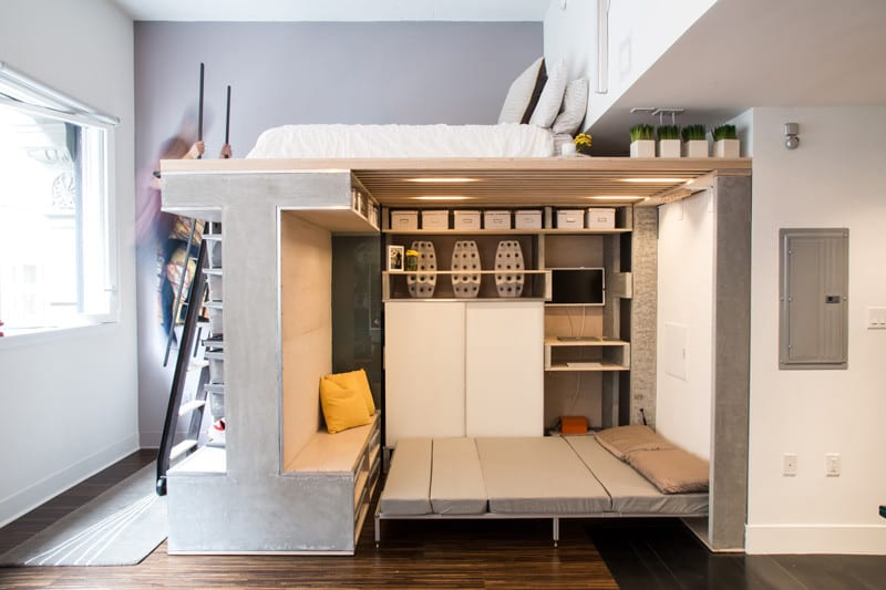 Space-saving Loft two beds
