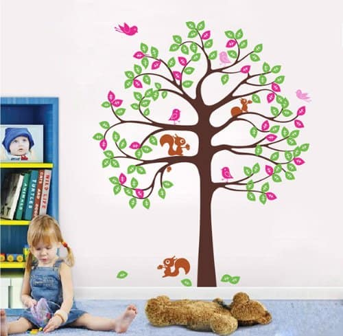 Shelving Tree with birds and squirrels