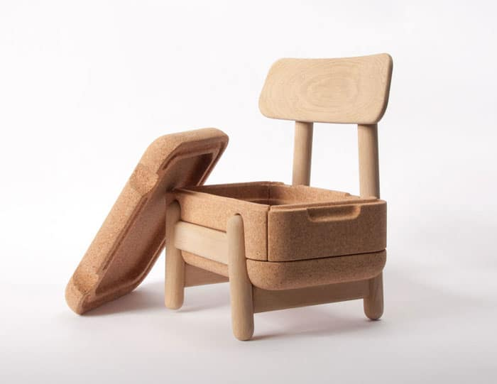 Charmant ... Chair Is Made Of Solid Oak With Cork Seating Thatu0027s Sturdy, Yet Soft  And Comfortable Enough For A Child. This Clever Little Furniture Piece Has  Storage ...
