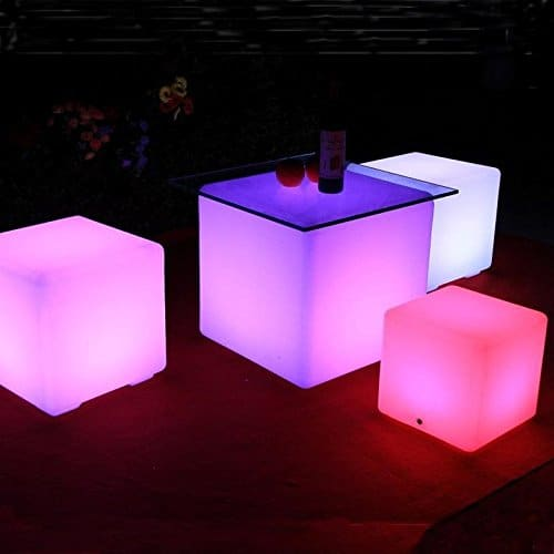 This Color Changing Rechargeable LED Cube Brings Light To A Dark Room In A  Bright Way. Modern And Minimalist In Style, This Cube Is The Ultimate In ...