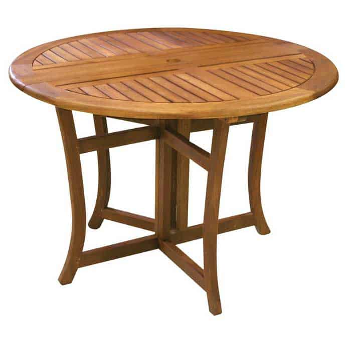 Weu0027ve Found The Perfect Patio Furniture For You! The Eucalyptus Round  Folding Deck Table Will Be A Gorgeous Addition To Your Outdoor Furniture,  ...