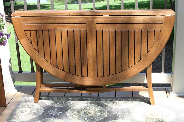 We ve found the perfect patio furniture for you  The Eucalyptus Round  Folding Deck Table will be a gorgeous addition to your outdoor furniture. Multipurpose Modular Space Saving Garden Furniture   Vurni