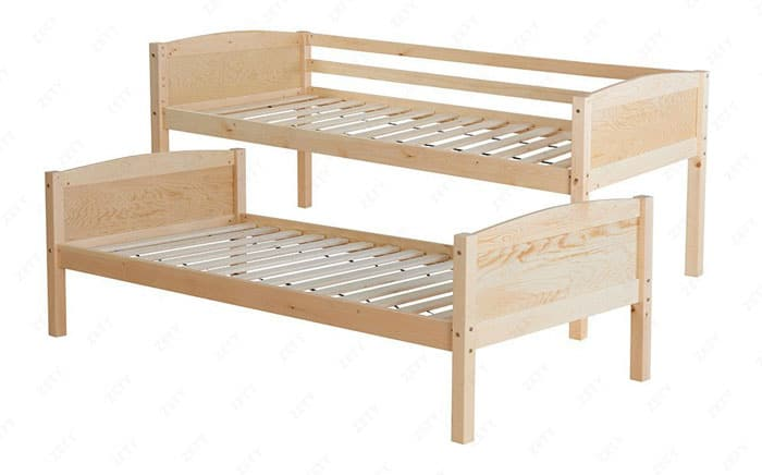 one bunk bed two single beds
