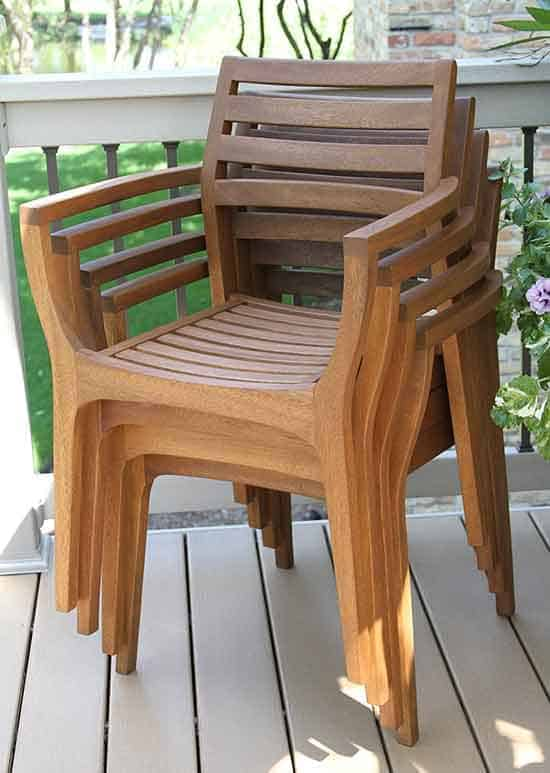12 Outdoor Stackable Chairs – Vurni