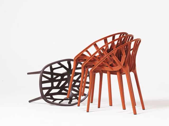 the vegetal stackable chair brings to mind the images of lush tropical getaways sandy beaches and dense rainforests itu0027s practically springing alive