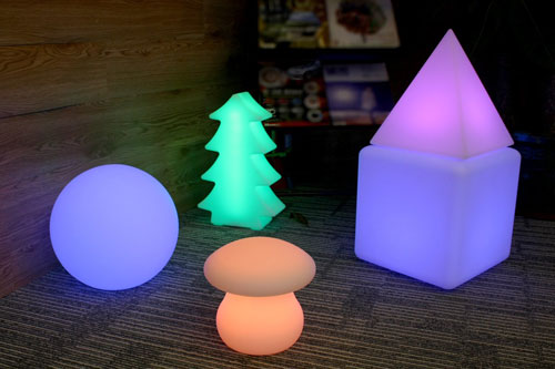 These Color Changing Lights Are Available In A Variety Of Shapes And Sizes  U2013 Balls, Cubes, Blocks, Even A Mushroom Or Christmas Tree.