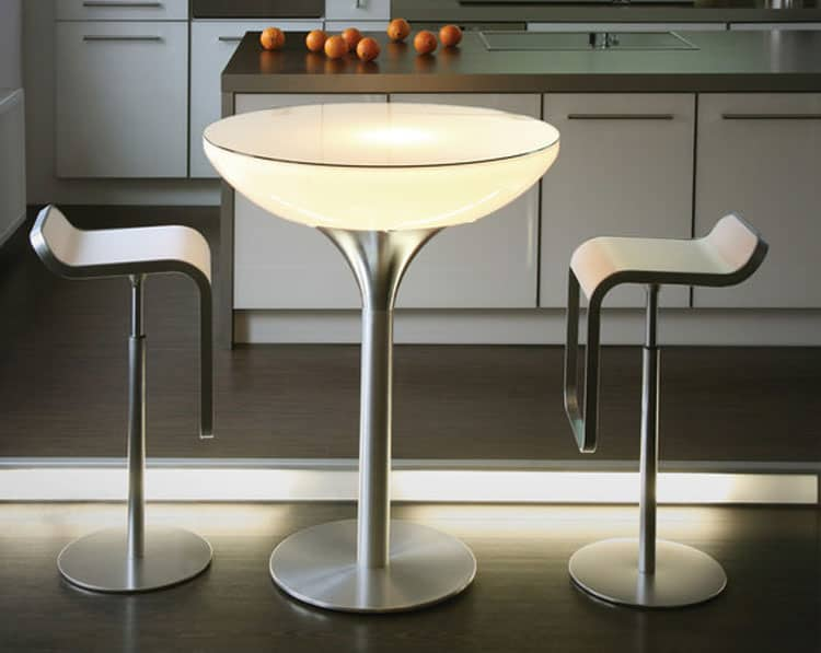 Wireless Outdoor Lighted Coffee Tables Vurni