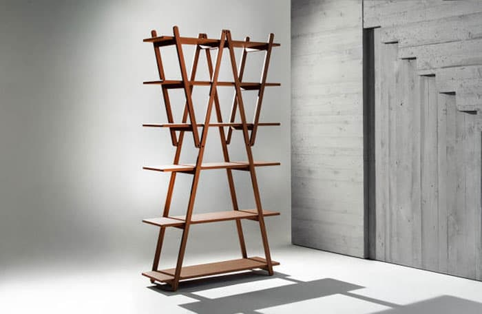 these folding bookcases can also be put right beside each other to create a wall of unique storage that is both decorative and interesting - Folding Bookcase
