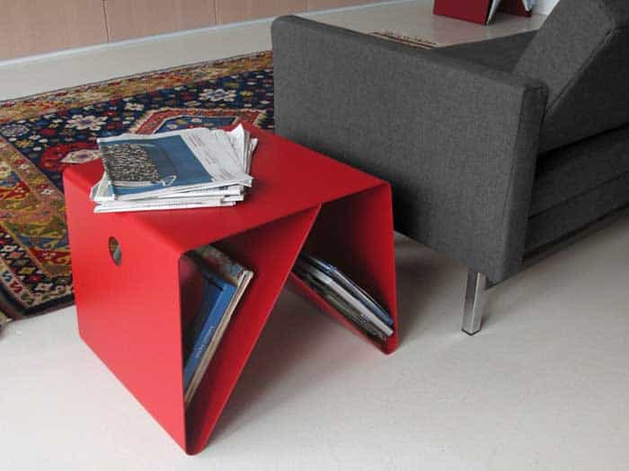 The BT4 Coffee Table, Which Is Made Of This Usually Flimsy Alloy, Is Sturdy  And Long Lasting When Bent In This Shape.