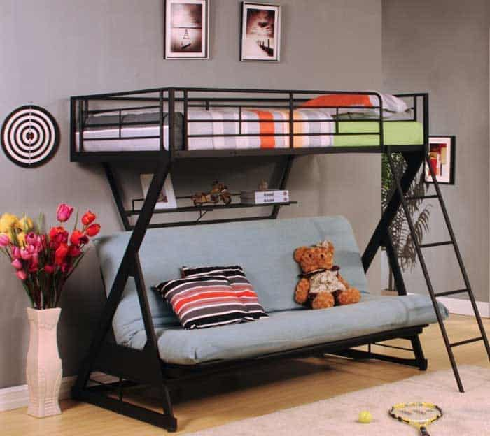 Bulky Beds That Take Up E Aren T Much Fun When You Re Living In Cramped Quarters The Zazie Futon Bunk Bed Is A Multifunctional Kids Both