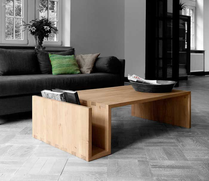 This Amazing Table With A Magazin Rack On One Side Is Made Of Solid  European Oak And Named After Her Designer Naomi Pas. Practical, Durable And  Modern The ...