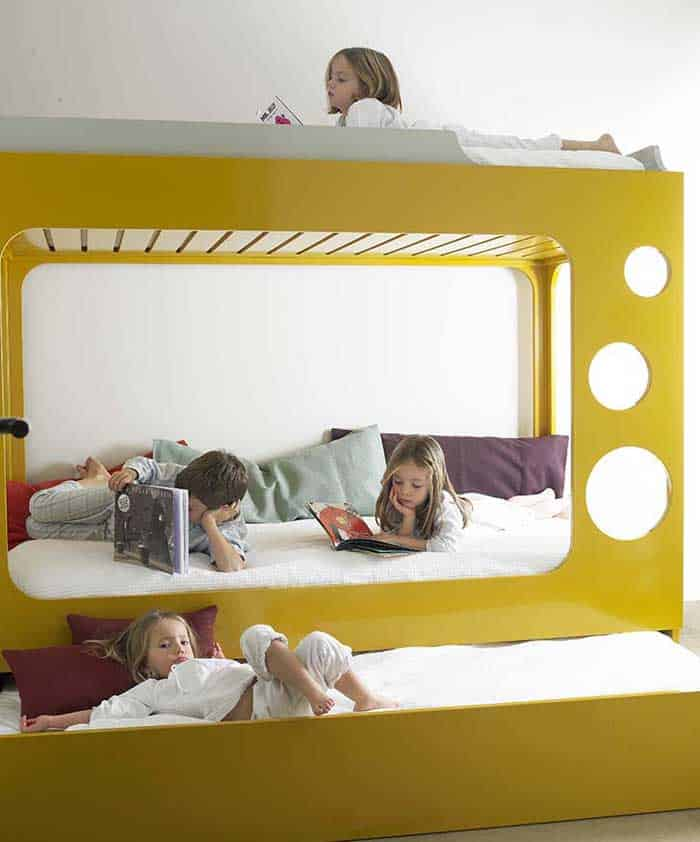 This stellar bunk bed makes me wish I was a kid again. Bedroom furniture was always so magical and Beanhome\u0027s Modular Bunk Bed sparks the imagination in a ... & 12 Multifunctional Space Saving Kids Beds \u2013 Vurni