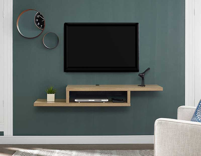 Asymmetrical Floating TV Console burka bark